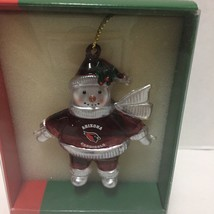 Arizona Cardinals Football Snowman Christmas Ornament NFL Crystal Snowmen - $19.79