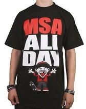 Famous Stars & Straps Hombre Negro Rojo All Day Manny Santiago Msa Camiseta Nwt