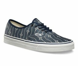 VANS Authentic (Indigo) Mood Indigo/Blanc Blue Men's Skate Shoes - $47.95