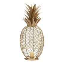 *18793B  Golden Iron Pineapple Tealight Votive Candle Holder - £28.03 GBP