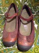 MERRELL PLAZA MJ SADDLE LOAFERS FLATS SHOES BROWN LEATHER SUEDE WMNS SZ 6.5M image 2