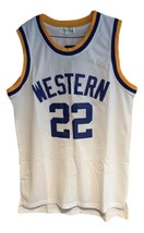 Butch Mcrae Western Blue Chips Movie Basketball Jersey Sewn White Any Size image 4