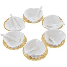 6PCS Small Porcelain Ramekins Condiment Dishes with Spoons, Ceramic Dipp... - $410,60 MXN