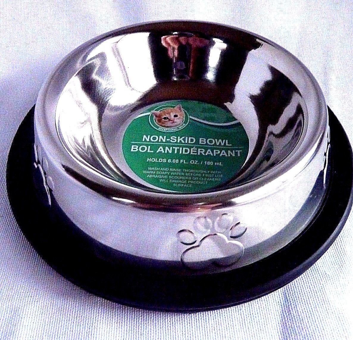 Primary image for Non Skid Metal Cat Dog Bowl Slip Pet Cat Dish Holds 6.08 fl oz.