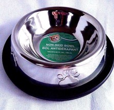 Non Skid Metal Cat Dog Bowl Slip Pet Cat Dish Holds 6.08 fl oz. - $5.14
