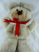 Vintage 1985 Hallmark Christmas Stocking Plush Teddy Bear Girl Red Colla... - $27.71