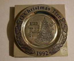 Wilton Armatale Pewter Decorative Christmas Plate O Christmas Tree 1992 - $19.99