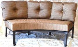 Cast Aluminum Curved Outdoor Sofa Elisabeth 2 Piece Patio set Desert bronze image 3