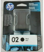 Genuine New HP 02 Black Original Ink Cartridge For HP Photosmart C8721WN - $17.81