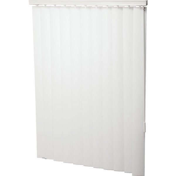 "Primary image for Vinyl 116 x 96 White 3-1/2"" Vertical Blind - Vertical Blinds 116W x 96L"