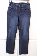 W13023 Womens NOT YOUR DAUGHTERS JEANS Blue Lift Tuck Tech  STRAIGHT Leg... - $38.63