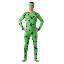 Green Question Mark Spandex Bodysuit Zentai Suit Catsuit Costume - $51.00
