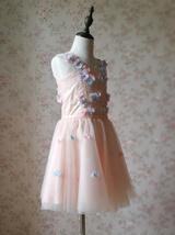 Flower Girl Dress, Sleeveless High Waist Girl Dress Princess Dress - Blush Pink  image 5
