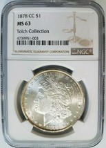 1878 CC Morgan Silver Dollar NGC MS 63 Tolch Collection Hoard Pedigree - $689.99