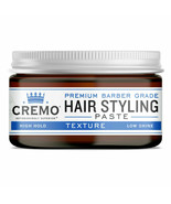 Cremo Barber Grade Hair Styling Texture Paste High Hold Low Shine 2 Ounc... - $9.40