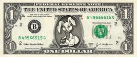 EASTER BUNNY on a REAL Dollar Bill Cute Egg Stuffer & Basket Treat Money... - $4.50