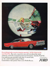 Vintage 1965 Magazine Ad Ford Everything looks roomier Smarter Sportier Ford XL - $5.93