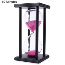 60 Minutes Sand Timing 1 Hour Watch Wood Color Sand Crafts Creative Home... - $23.94