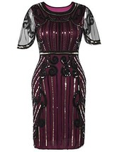 PrettyGuide Women's 1920s Dress Bead Sequin Embellished Cocktail Flapper... - $25.99