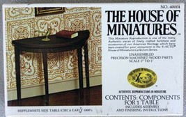 House Of Miniatures Hepplewhite Side Table No. 40004 - Complete - Opened - $8.95