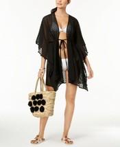 INC International Concepts  Sheer Jacquard Tassel Cover-Up (Black) - $47.12