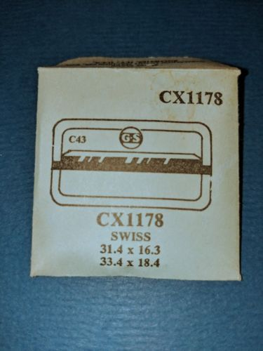 Primary image for SWISS CX1178  GS C43 REPLACEMENT Crystal 31.4 X 16.3 ~ 33.4 X 18.4 NIP free ship