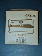 SWISS CX1178  GS C43 REPLACEMENT Crystal 31.4 X 16.3 ~ 33.4 X 18.4 NIP f... - $7.69