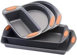 5 Piece Non-Stick Bakeware Set Baking Sheet Loaf Pan Rectangular Round C... - $61.72