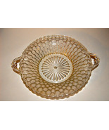 """RELISH BOWL CLEAR  PRESSED GLASS HONEYCOMB INDIANA CLEAR 7 1/2 """" HANDLES... - $11.99"""