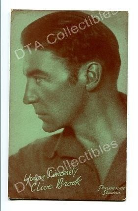 Primary image for CLIVE BROOK-ARCADE CARD-1920 G