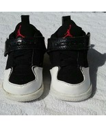 Nike Air Jordan 3C Basketball Sneakers Black Leather Baby Boy 364759 065 - $14.83