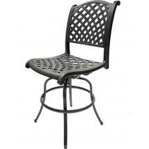 Patio Bar Stool Set of 2 Swivel Outdoor Furniture Cast Aluminum Sunbrella Seat image 4