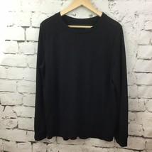 LOFT By Ann Taylor Womens Sz L Top Black Long Sleeve Pullover Soft Casual - $14.84