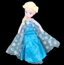 "Disney Frozen Princess Elsa Plush Doll Vinyl Face Just Play 15"" - $24.74"