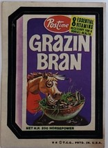1974/ 6th S TOPPS WACKY sticker Postime Grazin Bran for horses health - $1.95