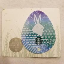 Starbucks Gift Card 2016 Egg Die Cut Blue Bunny Rabbit Happy Easter No $ Value - $8.00