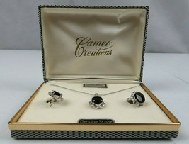 Beautiful SIGNED Sorrento Necklace and Screw on Earrings Set Sterling Si... - $49.99