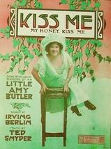 1910 Kiss Me My Honey Kiss Me Little Amy Butler Large Antique Sheet Music - $7.95