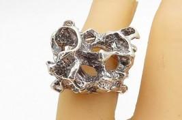 925 Sterling Silver - Vintage Modernist Sculpted Design Band Ring Sz 6.5- R18110 - $69.94
