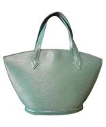 Vintage Louis Vuitton green epi tote bag in V shaped triangle. Perfect v... - $318.00