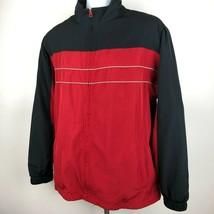 Reebok Men's Jacket Size L Red D195 - $11.38