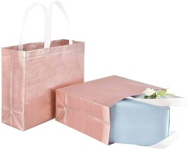 12 Glossy Reusable Unique Wedding Bags, Stylish Tote Bags with Handle, G... - $36.00