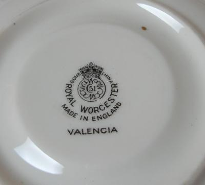 "VALENCIA Royal Worcester ""REPLACEMENT SAUCER"" China England Green Leaf RW VAL"