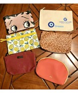 Lot of 6 Makeup Bags Pouches Ipsy Misc Tetris Unused Glam Make Up Jewelr... - $14.70