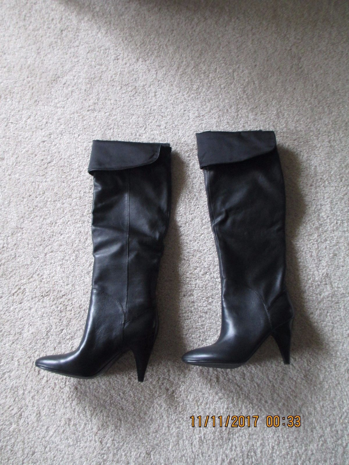 2d4158e6180 New Guess over the knee Black Leather Woman and 50 similar items