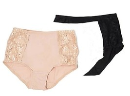 Breezies Set of 3 Soft Support Lace Brief Panties 1X - $14.84