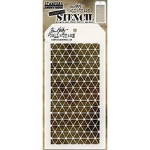 """Stampers Anonymous THS081 Tim Holtz Layered Stencil 4.125""""X8.5""""-Diamonds - $14.99"""