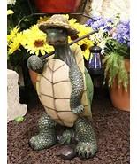 Ebros Gift Nautical Nature Lover Adventure Hiking Tortoise with Straw Ha... - €52,10 EUR