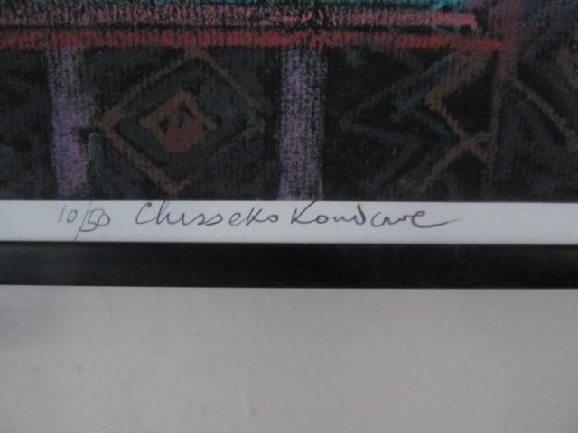 """RARE Original S/N 2002 Chisseko Kondowe """"HANDS"""" Kenya Young Pastel Art Painting"""