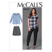 McCall's Patterns M7258 Women's Tops, Skirt & Pants, KK (26W-28W-30W-32W) - $14.21